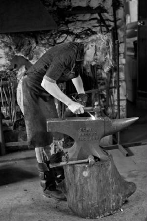 ... Annabelle Bradley Malham Village Blacksmith At Work