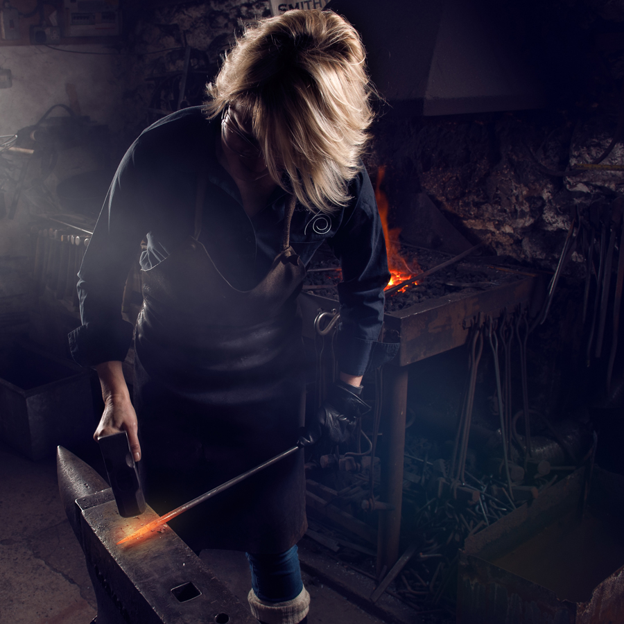 Blacksmith tuition at the Malham Smithy with Artist Blacksmith Annabelle Bradley